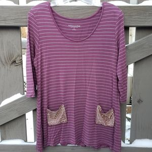 Soft Surroundings Women's PM Top With 2 Pockets